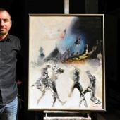 Již počtvrté namaloval malíř Martin Vavrys cenu GRAND PRIX Ď 2014, která je určena pro jednoho ze 14 krajských vítězů.