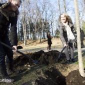 Sázení stromu v pražském parku Stromovka