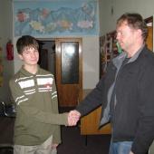 Lukáš se seznámil a domluvil na možnostech další spolupráce se svým garantem p. Homolkou.
