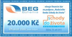 Šek společnosti BEG Bohemia, spol. s r. o.
